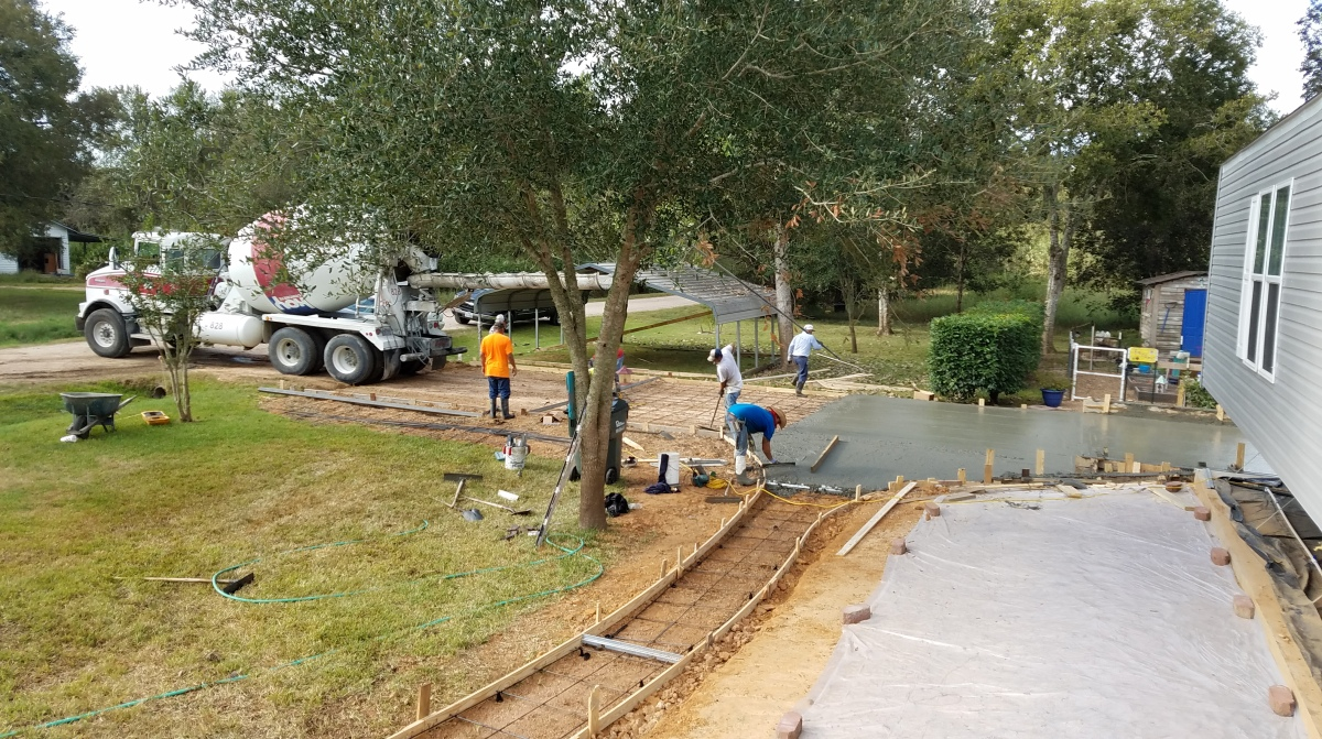 Sidewalk, Driveway and Carport Transformation