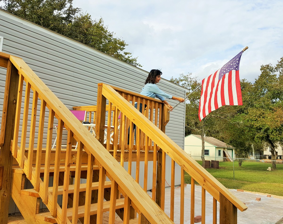 Skirting/Back Porch and the American Flag